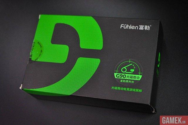 Vỏ hộp tương đối đơn giản, làm nổi bật dòng sản phẩm chuyên game 9 series của Fuhlen.