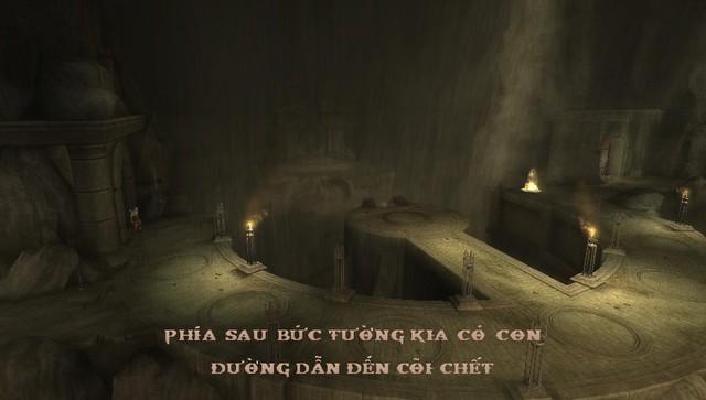 Một hình ảnh trong bản Việt hóa của God of War: Ghost of Sparta.