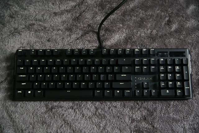 GALAX HOF Gaming Keyboard khi được lên đèn.