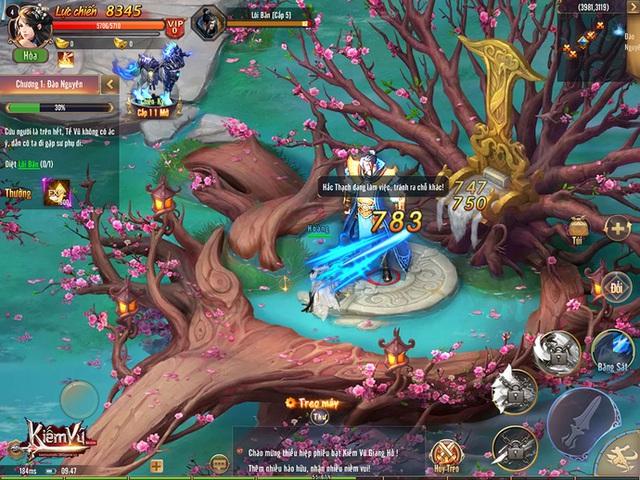 Hình ảnh in-game trong Kiếm Vũ Mobi