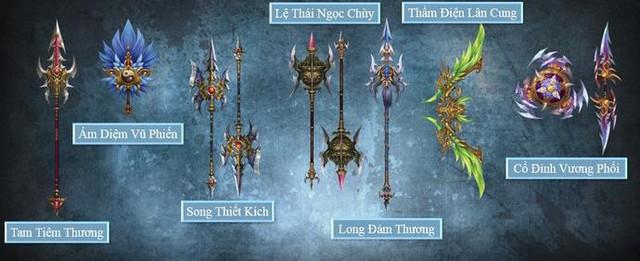 Điểm mặt các thần binh trong webgame Thanh Long Đao