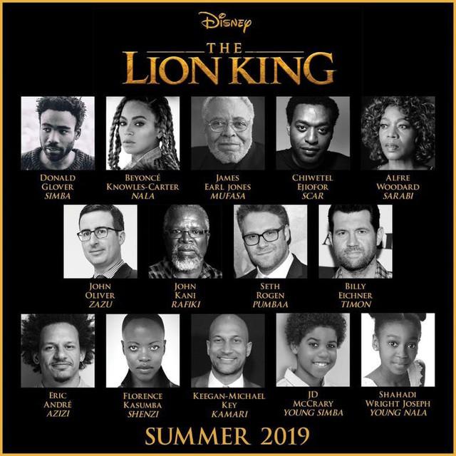 Dàn sao The Lion King phiên bản 2019