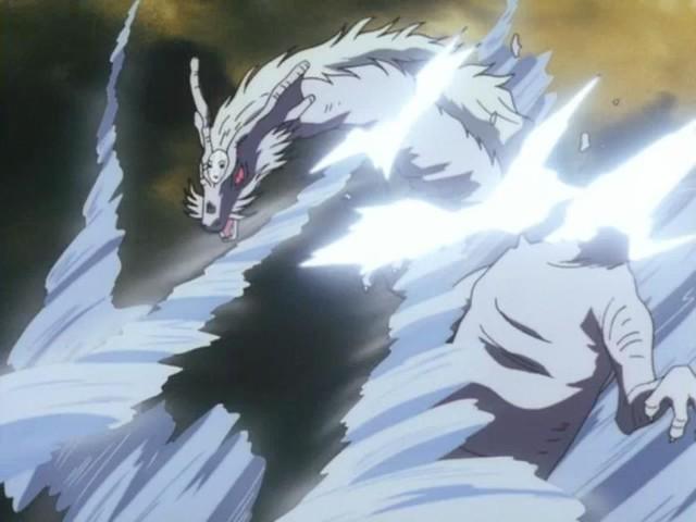 Khuyển Dạ Xoa đã học được một tuyệt chiêu cực kì uy lực và chuyên dùng để tiêu diệt các đối thủ nặng ký- Bộc Lưu Phá trong lúc chiến đấu với Long Cốt Tinh, sau đó dùng nó để đánh bại con yêu quái này…