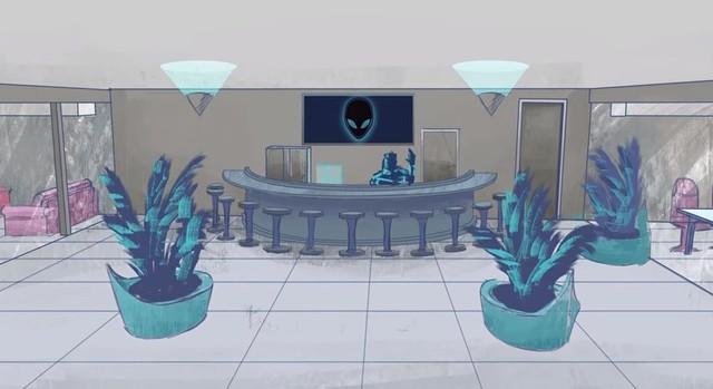 Bối cảnh quầy bar tại trung tâm mới của Team Liquid