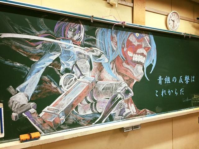 Cô giáo nhà người ta: Khuyến khích học sinh chăm chỉ bằng cách... vẽ Manga lên bảng phấn - Ảnh 4.