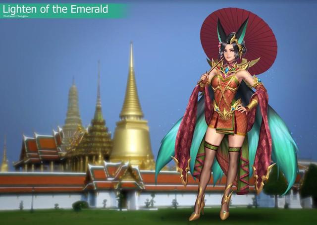 Liên Quân Mobile: Sau áo dài Việt Nam, Garena sắp trình làng Quốc Phục Thái Lan - Ảnh 3.