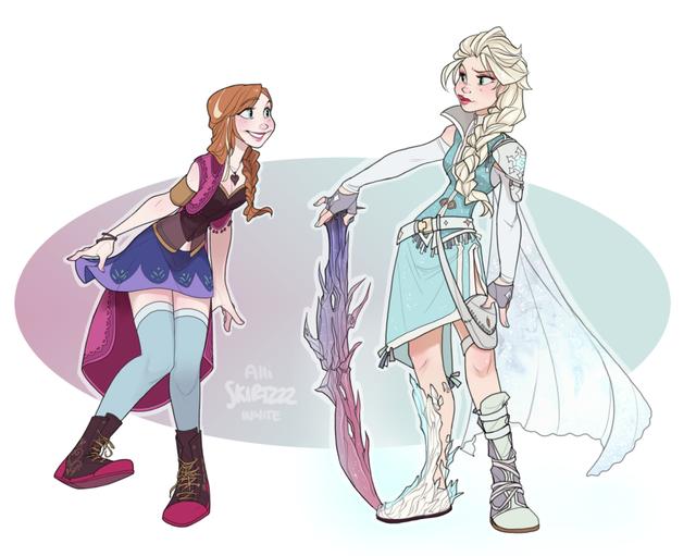 Ngắm chân dung các mỹ nữ Disney khi xuyên không sang Final Fantasy - Ảnh 4.