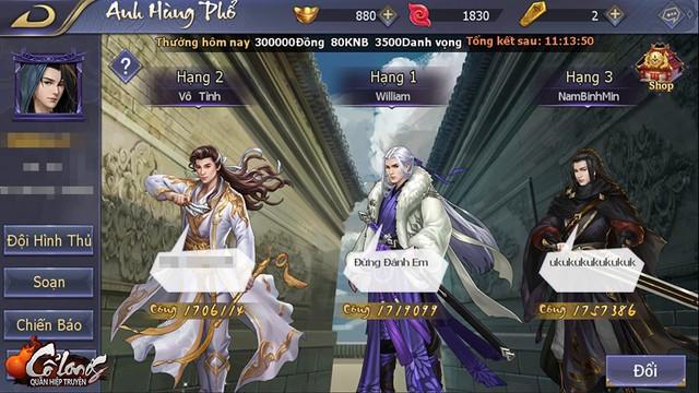"""Bí kíp """"bứt Top"""" Anh Hùng Phổ cho người chơi lực chiến thấp trong Cổ Long Quần Hiệp Truyện - Ảnh 1."""