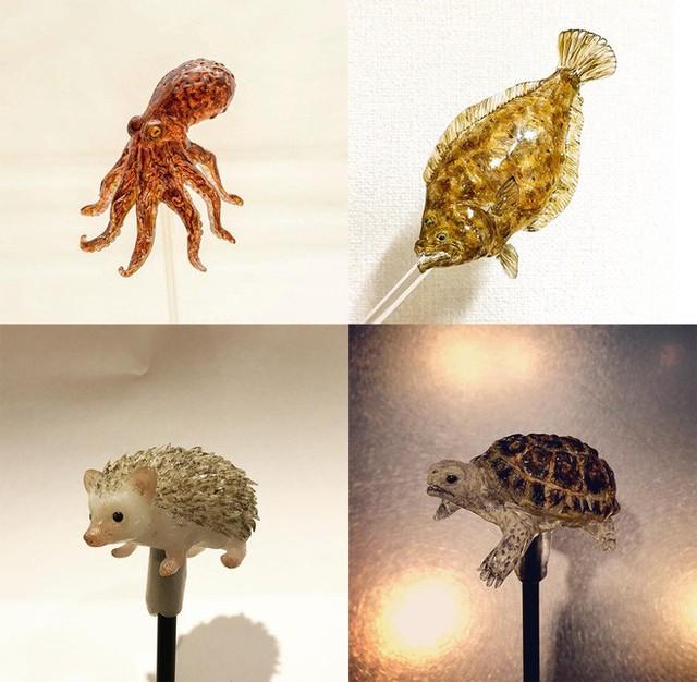 Mục sở thị nghệ thuật làm kẹo mút hình động vật đặc sắc nhất Nhật Bản - Ảnh 9.