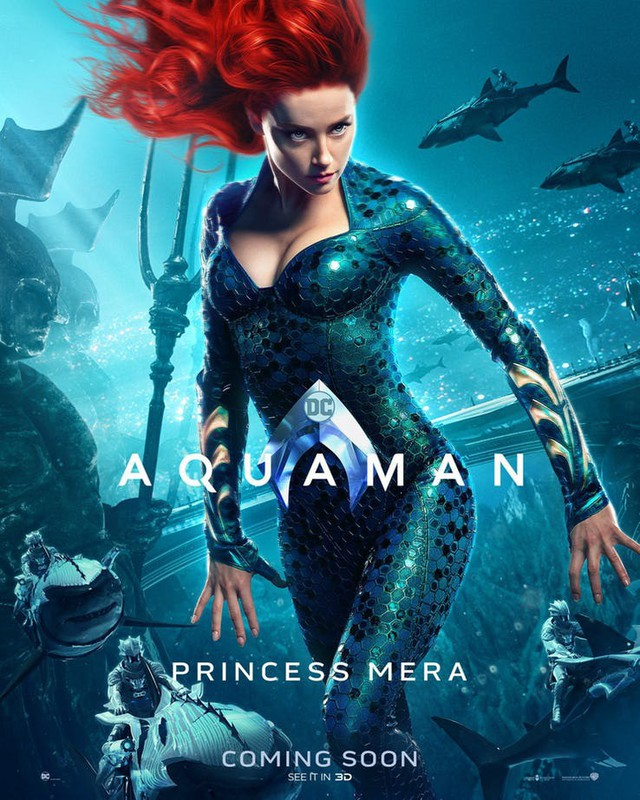 Aquaman bất ngờ tung poster mới, nhưng điều khiến người hâm mộ phấn khích lại là Mera, nữ thủy thần tóc đỏ gợi cảm - Ảnh 6.