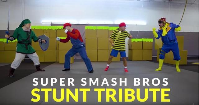 Xem clip live action SUPER SMASH BROS: Mario đấm nhau cực đỉnh - Ảnh 1.