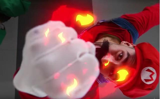 Xem clip live action SUPER SMASH BROS: Mario đấm nhau cực đỉnh - Ảnh 2.