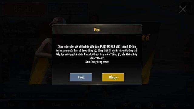 Game thủ PUBG Mobile chọn bản VN sẽ bị xóa dữ liệu ở bản Quốc tế - Ảnh 2.