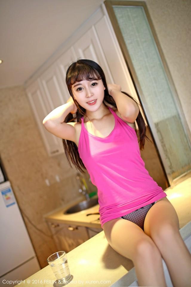 Trong trắng và ngây thơ với cô nữ sinh gợi cảm Kitty Zhao Xiaomi - Ảnh 9.