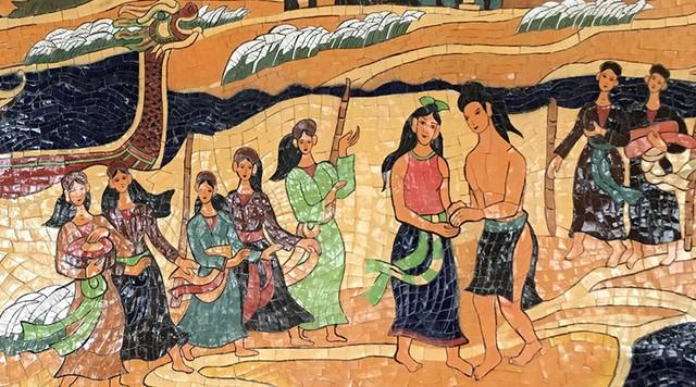 Truyền thuyết này đã được khắc lại thành bức tranh gốm sứ rất nổi tiếng ở Hà Nội