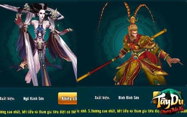 Tôn Ngộ Không và Bạch Cốt Tinh trong Tây Du Phong Thần Ký là 2 Boss cực mạnh thách thức người chơi