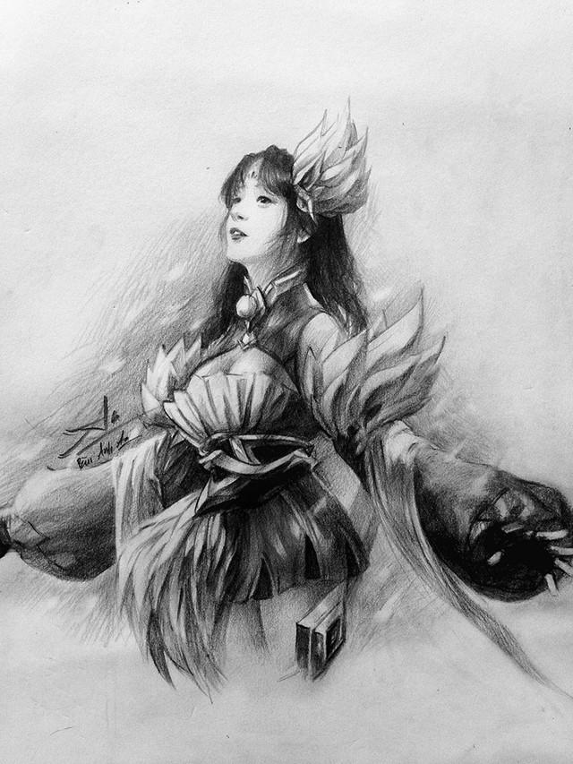Chiêm ngưỡng những bức vẽ tướng Liên Quân Mobile bằng bút chì đẹp ngỡ ngàng của game thủ Việt