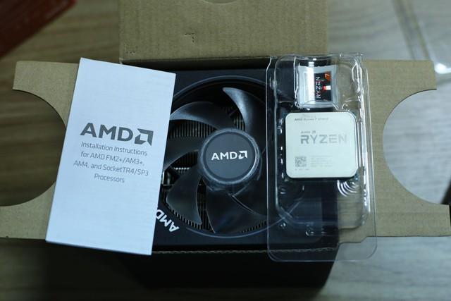 Phụ kiện của CPU AMD Ryzen 7 2700X.