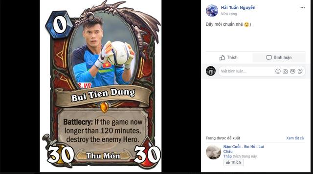 Một game thủ vui tính đã chế ngay một là bài Hearthstone có tên Bui Tien Dung.