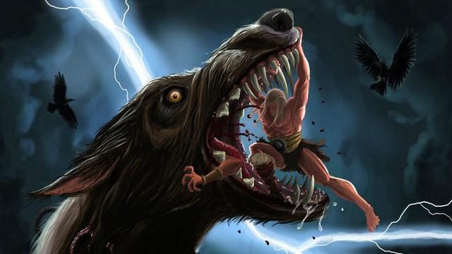 Odin gục ngã trước Fenrir (con trai Loki)