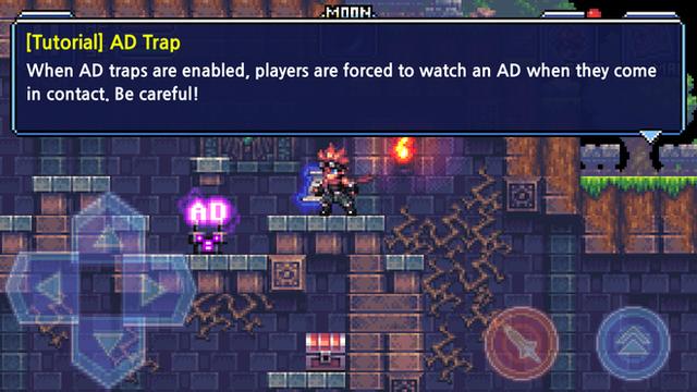 Khi bẫy quảng cáo được kích hoạt, người chơi bị buộc phải xem quảng cáo nếu chạm phải chúng. Hãy cẩn thận!