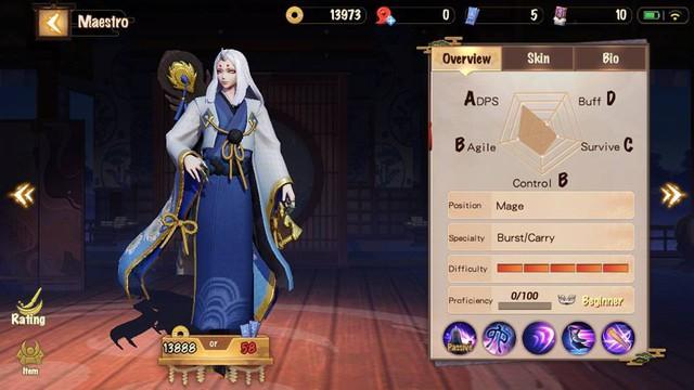 Hệ thống tướng (Thức thần) trong Onmyoji Arena có nhiều nét tương đồng với các tựa game MOBA mobile khác với hàng chục cái tên.
