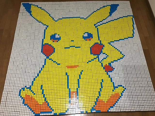 Hâm mộ Pokemon, fan ruột mua đến cả ngàn khối rubik về để xếp hình thành tranh cho đã mắt - Ảnh 4.