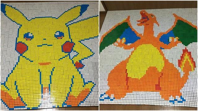 Hâm mộ Pokemon, fan ruột mua đến cả ngàn khối rubik về để xếp hình thành tranh cho đã mắt - Ảnh 1.