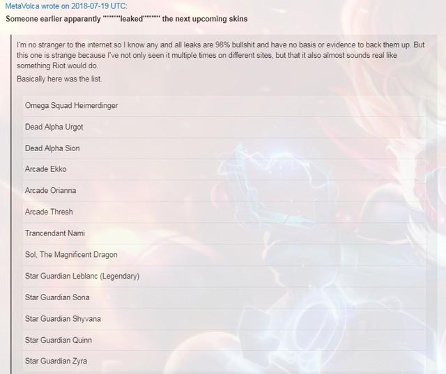 Danh sách skin mới của LMHT mùa này bất ngờ bị rò rỉ: quân đoàn Vệ Binh Tinh Tú có thêm 5 gương mặt mới - Ảnh 2.