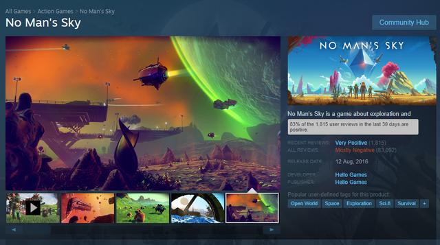 Trở lại quá mạnh mẽ, No Man's Sky tạo nên điều kỳ diệu chưa từng có trong lịch sử Steam - Ảnh 1.