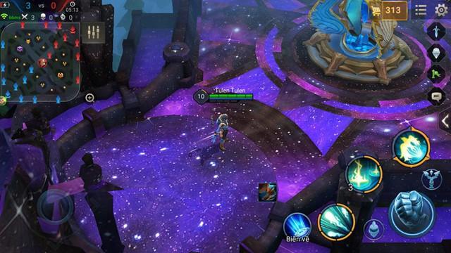 Map Galaxy có màu tím là chủ đạo, thay vì màu ghi như map Xi măng.