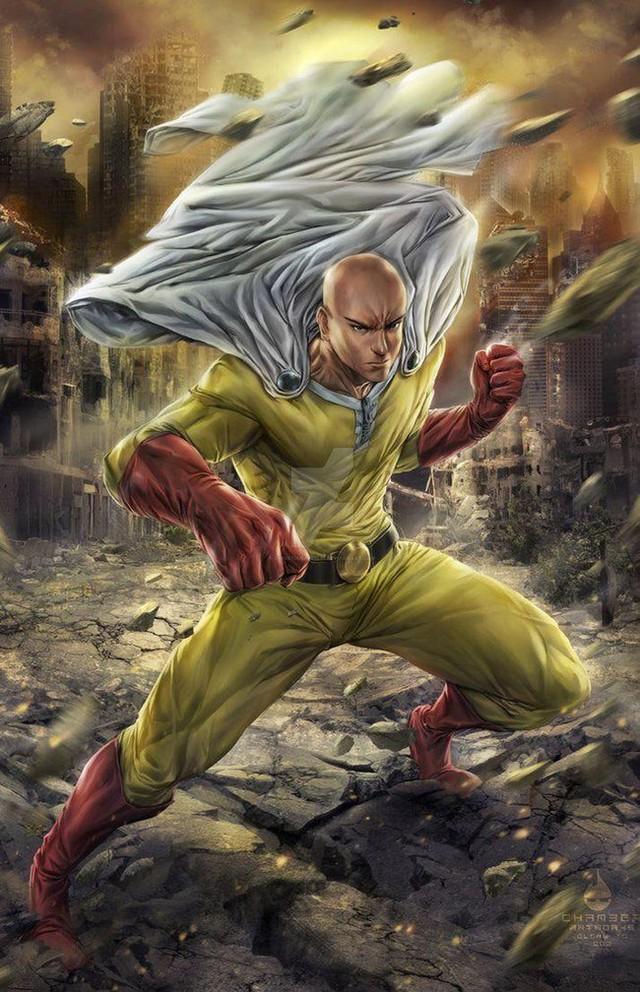 Bộ fanart cực chất khoe trọn sức mạnh của thánh Phồng Saitama trong One Punch Man - Ảnh 3.