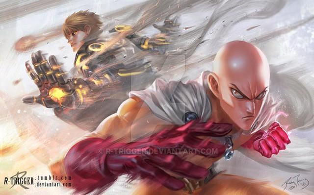 Bộ fanart cực chất khoe trọn sức mạnh của thánh Phồng Saitama trong One Punch Man - Ảnh 4.