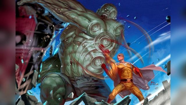 Bộ fanart cực chất khoe trọn sức mạnh của thánh Phồng Saitama trong One Punch Man - Ảnh 6.