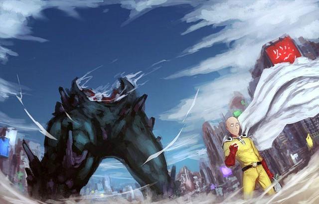 Bộ fanart cực chất khoe trọn sức mạnh của thánh Phồng Saitama trong One Punch Man - Ảnh 8.