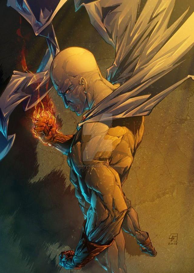 Bộ fanart cực chất khoe trọn sức mạnh của thánh Phồng Saitama trong One Punch Man - Ảnh 9.
