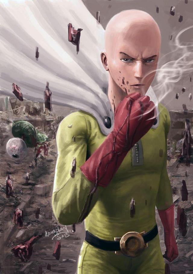Bộ fanart cực chất khoe trọn sức mạnh của thánh Phồng Saitama trong One Punch Man - Ảnh 11.