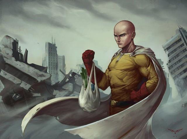 Bộ fanart cực chất khoe trọn sức mạnh của thánh Phồng Saitama trong One Punch Man - Ảnh 14.