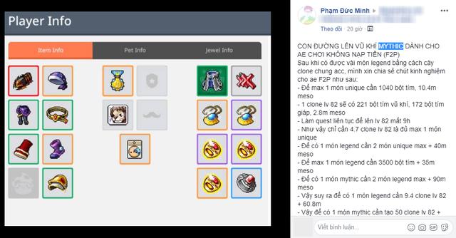 Thánh cày MapleStory M Việt chia sẻ bí kíp full đồ mà không phải nạp 1 xu, chỉ dành cho gamer max rảnh - Ảnh 2.