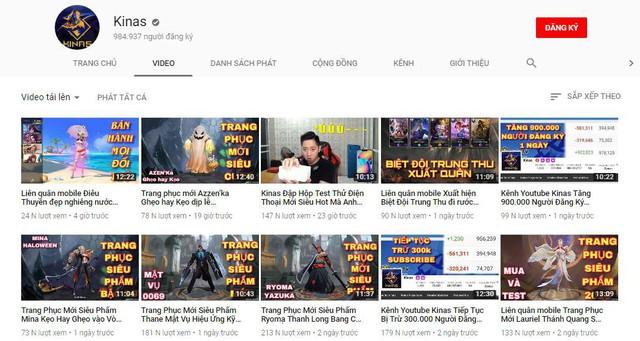 Liên Quân Mobile: Youtube bất ngờ trả lại 900 nghìn subcribe cho Kinas - Ảnh 1.