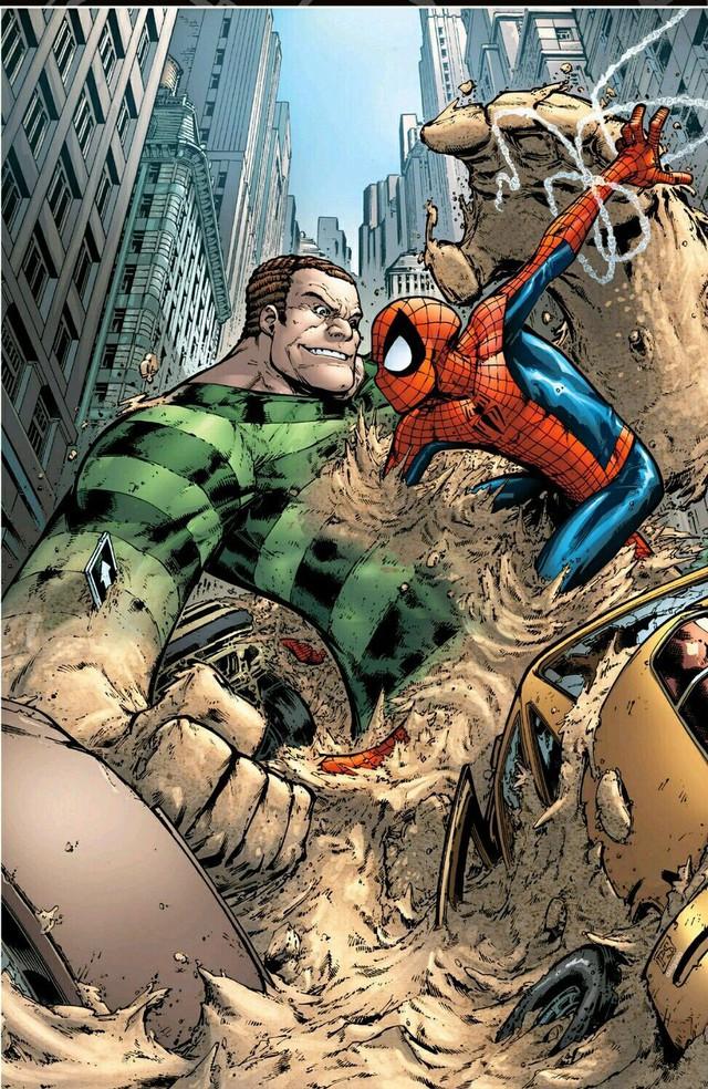 Comics Trivia: Sở hữu sức mạnh của Sandman, Spider-Man hóa Nhện Cát siêu khổng lồ - Ảnh 1.