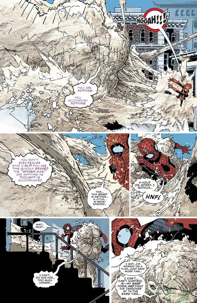 Comics Trivia: Sở hữu sức mạnh của Sandman, Spider-Man hóa Nhện Cát siêu khổng lồ - Ảnh 7.