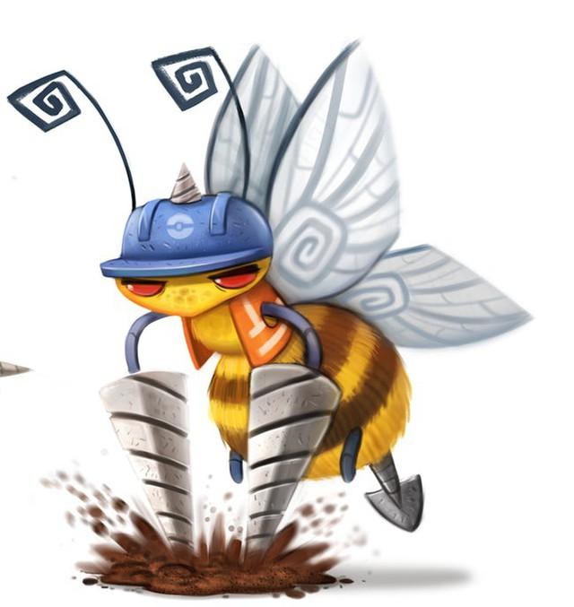 Độc đáo bộ tác phẩm Pokémon được vẽ theo phong cách hoạt hình đáng yêu - Ảnh 7.