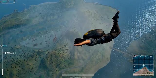 Nhảy dù sai địa điểm là lỗi thường gặp của phần lớn game thủ mới chơi PUBG