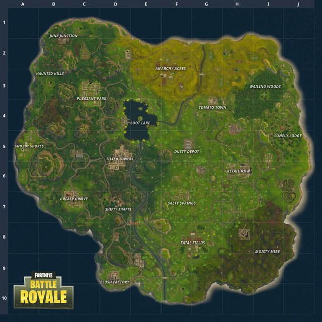 Hệ thống bản đồ mới của Fortnite