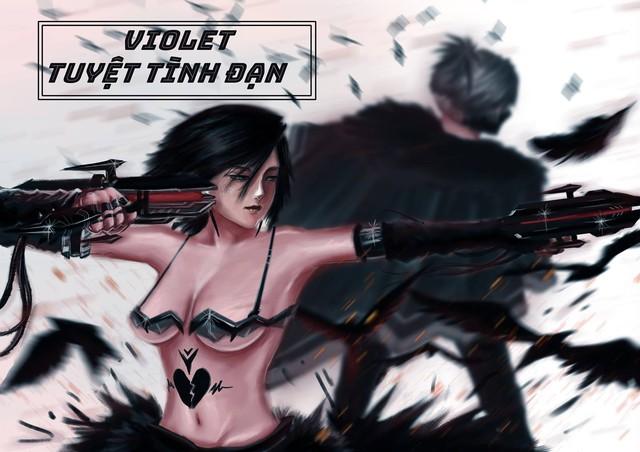 Liên Quân Mobile: Violet Tuyệt Tình Đạn bứt phá mạnh mẽ ở cuộc thi thiết kế skin - Ảnh 2.