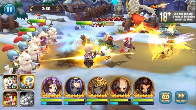 Ngoài đội hình chính, game quẩy Tết Tiểu Tiểu Tam Quốc Chí còn cho triệu hồi cả Xe bắn đá, Lính gỡ bom, Đạo quân Cừu max vui - Ảnh 5.