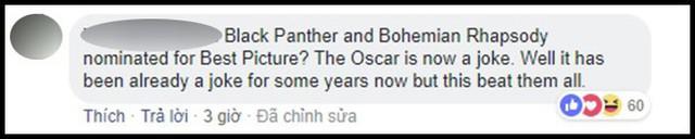 Hậu đề cử Oscar 2019: Dân mạng rần rần chửi bới Viện Hàn lâm vì đề cử Black Panther là Phim Xuất sắc - Ảnh 11.