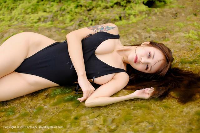 Nóng mắt với bộ ảnh áo tắm quá chật của thiên thần Xia Mei Jiang - Ảnh 21.