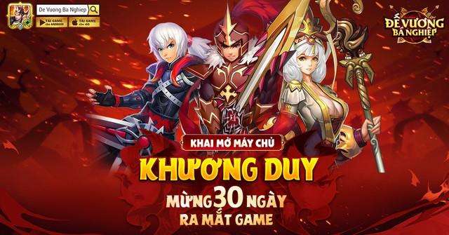 Mừng 1 tháng ra mắt, Đế Vương Bá Nghiệp tung server đặc biệt Khương Duy, tặng 999 Giftcode - Ảnh 3.